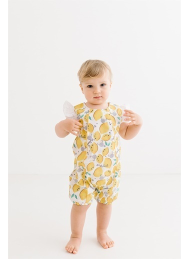 Minnie Mouse Lisanslı Bebek Kısa Tulum 17350 Sarı